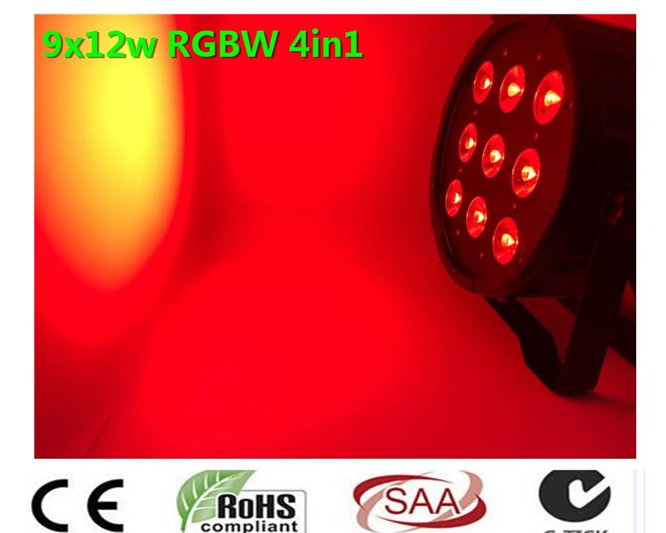 CREE 9x12 W 4in1 LED SlimPar Quad Luz LED DJ Luz de la Colada Etapa Uplighting Sin Ruido