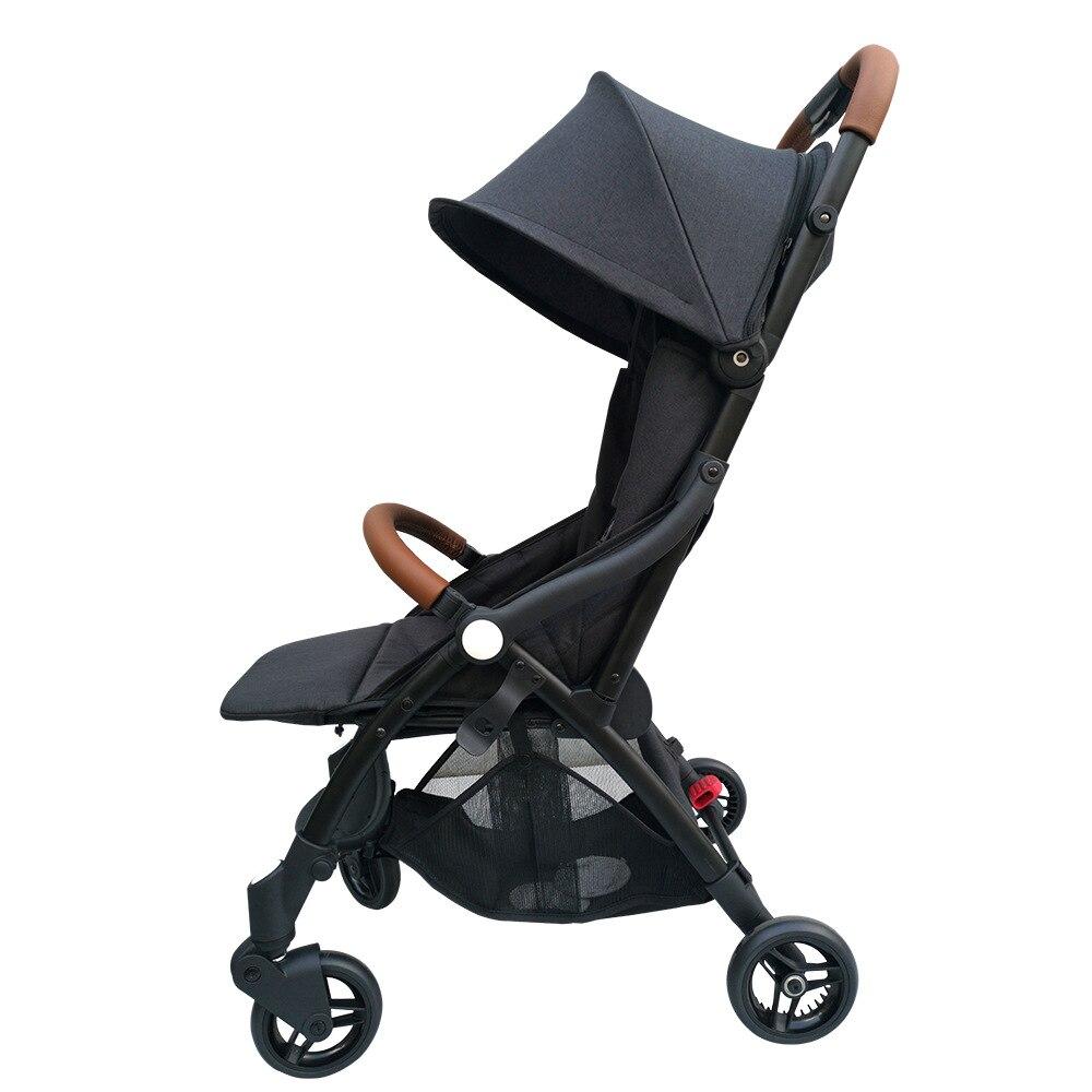 Bolso carrinho de bebê reclinável sentado dobrável shock absorber luz portátil viagem de embarque guarda-chuva carrinho de bebê