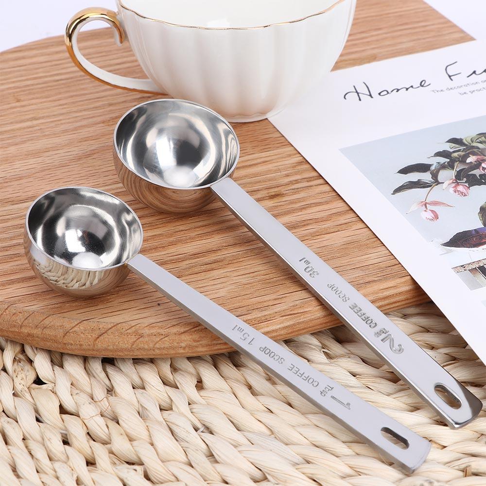15 мл/30 мл металлическая мерная ложка многофункциональная кофейная круглая ложечка из нержавеющей стали кофейная длинная ручка столовая ложка