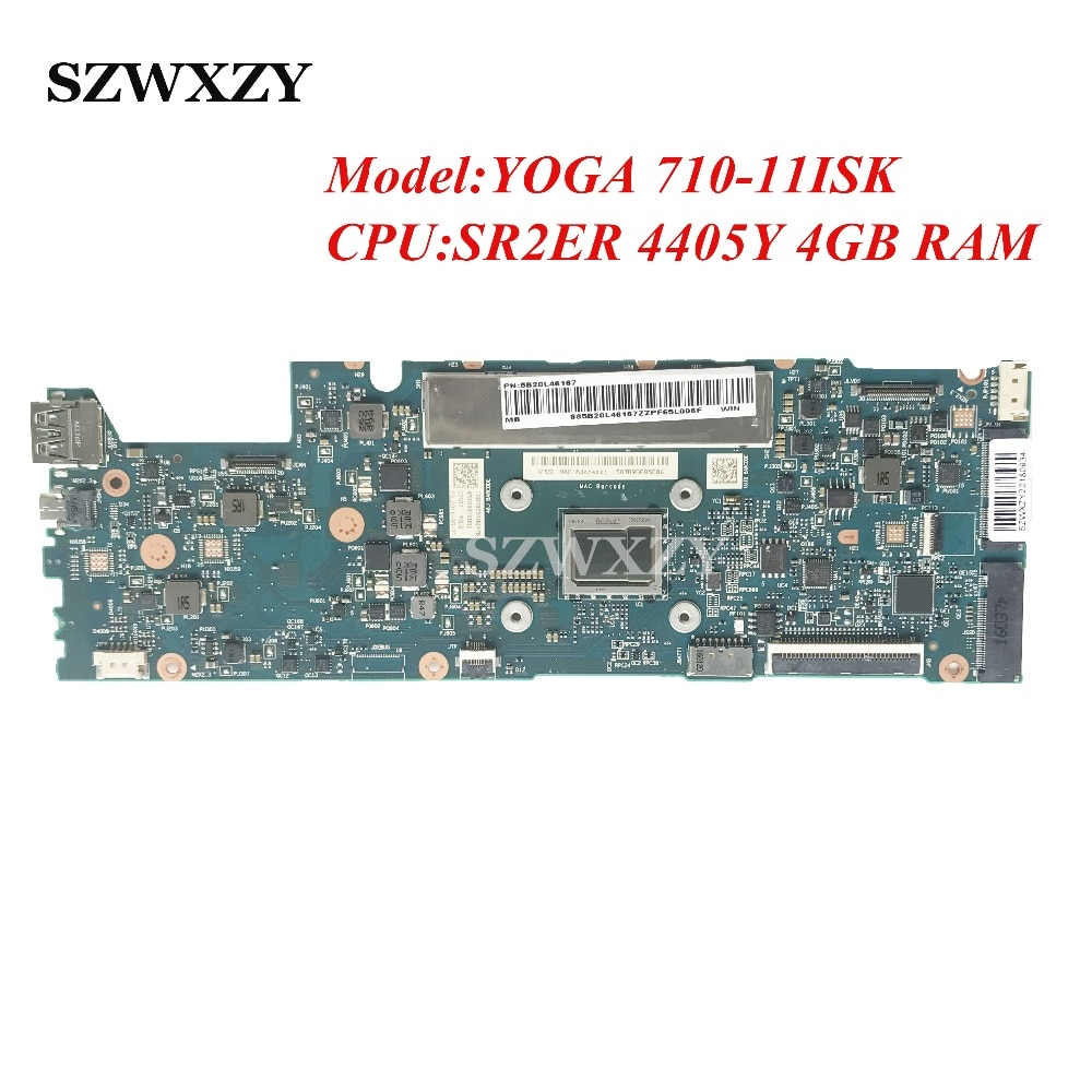 CYG11 NM-A771 Para Lenovo YOGA 710-11ISK Laptop Motherboard Processador 5B20L46167 Com SR2ER 4405Y 4 GB de RAM