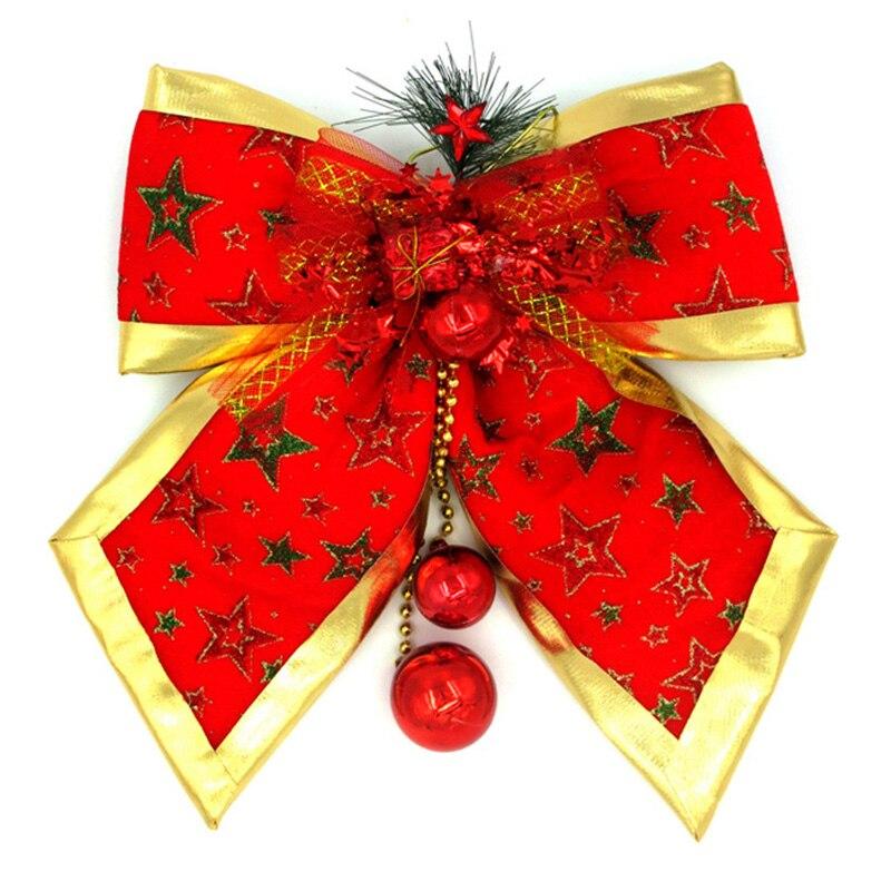 2 tipos 2017 adornos navideños bola adornos con lazo colgante adornos con gota para casa y árboles manualidades de Navidad