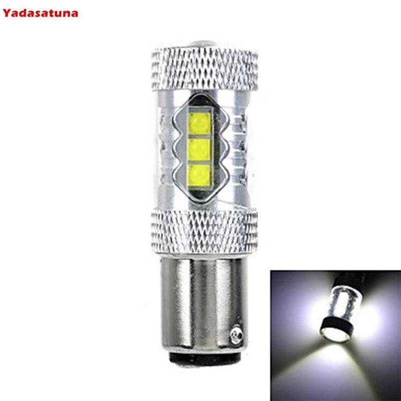 Bombilla de Luz LED de freno BAY15D, Chips Cree de 80W, 1157,...