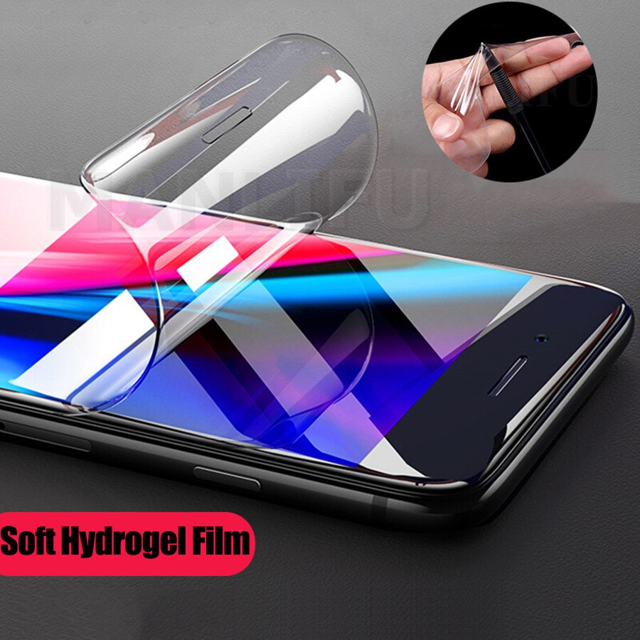 9D frente suave de silicona TPU Protector de pantalla completa para LG G5 G6 G7 G8 ThinQ Q7 Q6 Plus de hidrogel, película adhesiva de V20 V30 V40 V50 K12