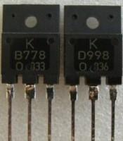 2 unids/lote B778 D998 1PCS * 2SB778 1PCS * 2SD998 TO-3P acústico el tubo nuevo original