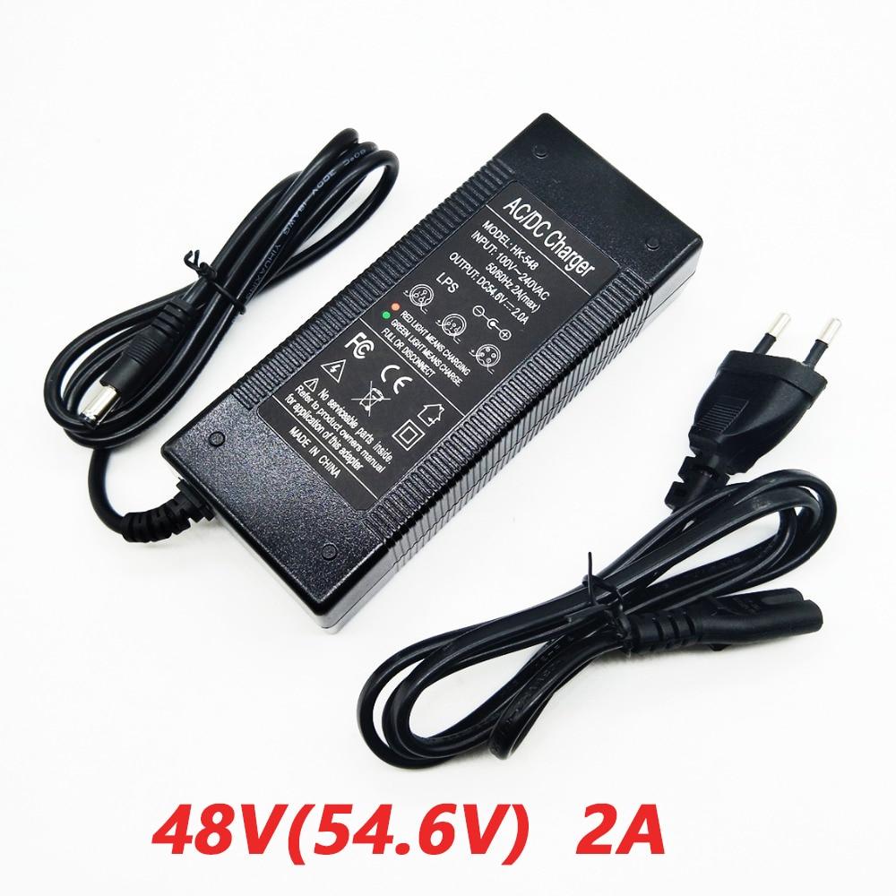 Зарядное устройство HK LiitoKala 48V 2A, 13 серий, зарядное устройство 54,6 v 2a, постоянное давление постоянного тока, полное самоостановки