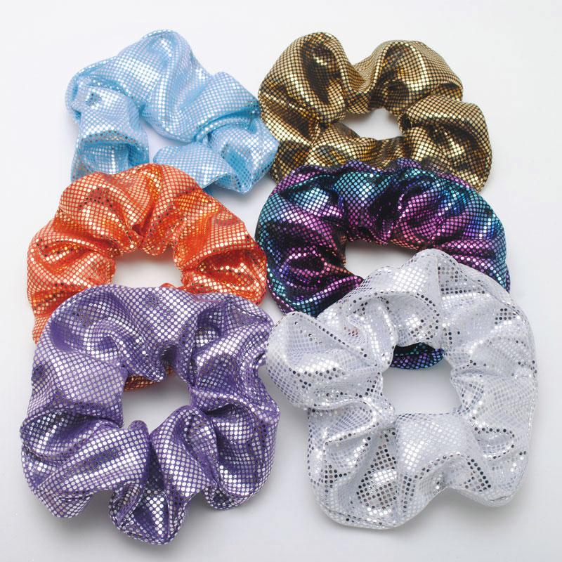 6 piezas Scrunchies las mujeres las niñas elástico bandas de goma para el cabello accesorios goma de mascar para las mujeres corbata anillo pelo Pelo cuerda coleta titular goma de mascar