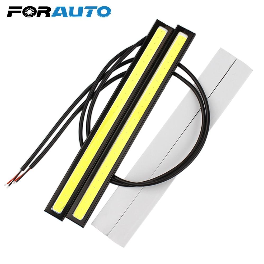 Luces de circulación diurna de coche universales FORAUTO, luz LED para correr, luz de conducción, Auto DRL, estilo de coche, súper brillante, impermeable