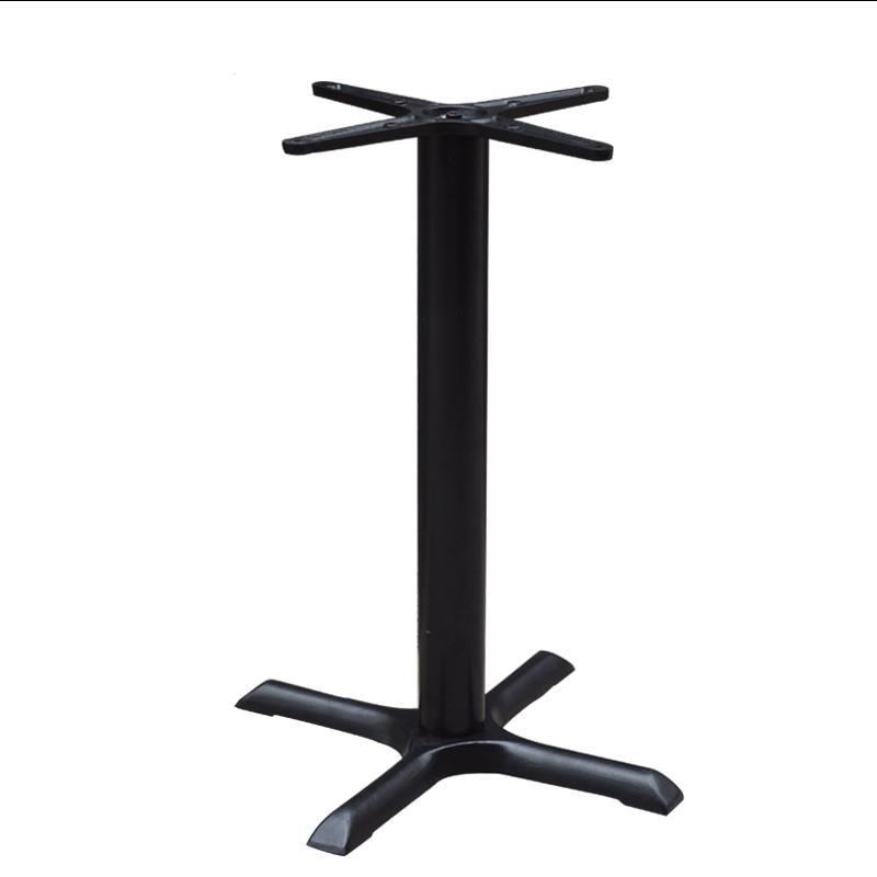 Чугунный Настольный ножной держатель, черный обеденный стол, подставка под заказ для ресторана, кофейни, стол с опорой, крестообразный базо...