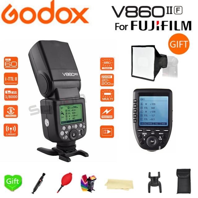 Godox V860IIF V860II-F Kamera Flash speedlite TTL HSS 2,4G Li-Ion Akku für Fujifilm Kameras + SUPON Freies Geschenk Kit