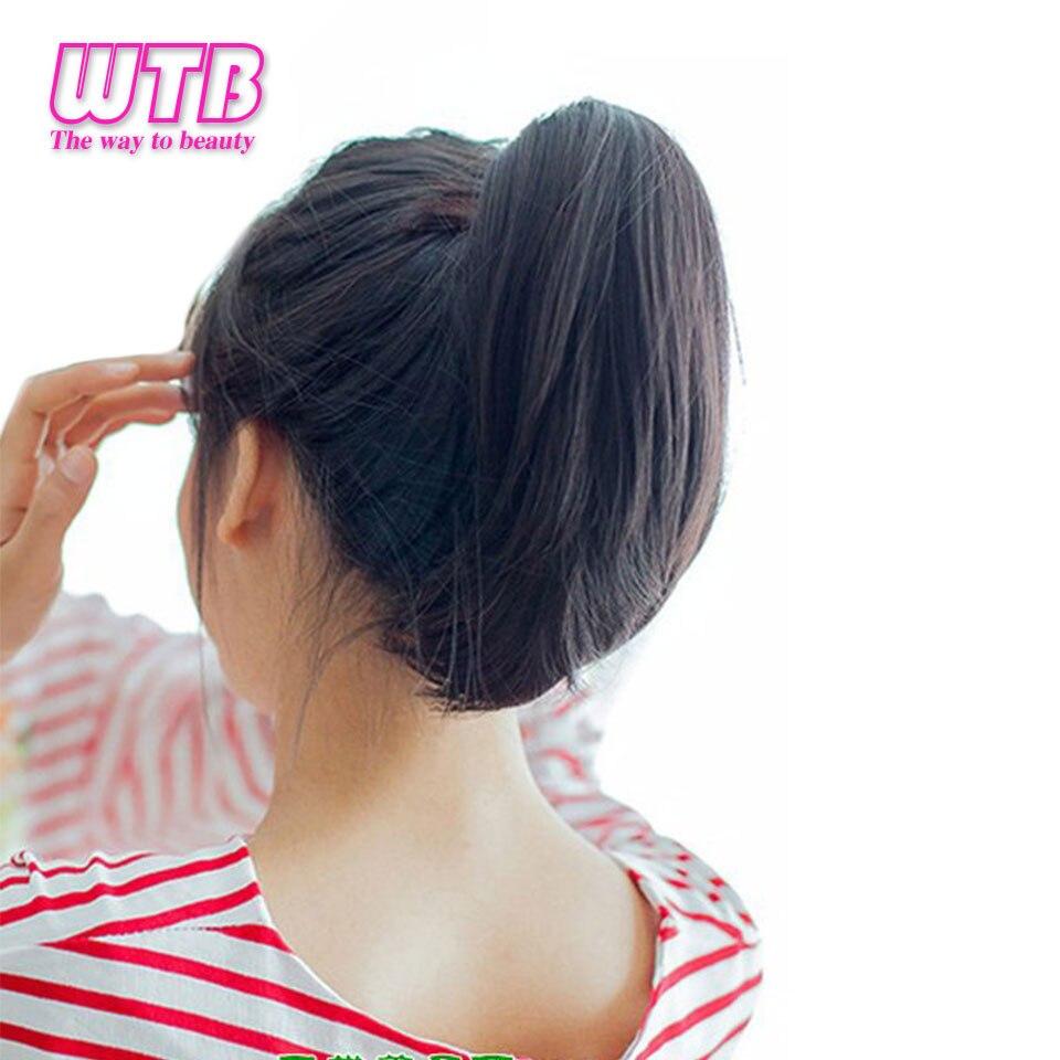 WTB короткий прямой зажим в хвост для волос накладные волосы шпильки конский