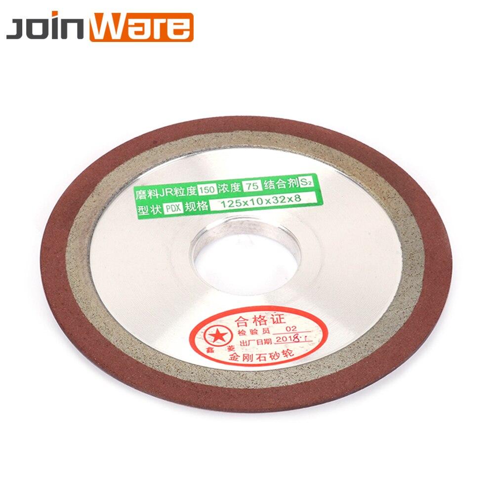 125 мм Алмазный шлифовальный круг из смолы шлифовальный круг для вольфрамовой стали Фрезерный резак точилка 150/240/320/400 зернистость 1 шт. 5 дюймов