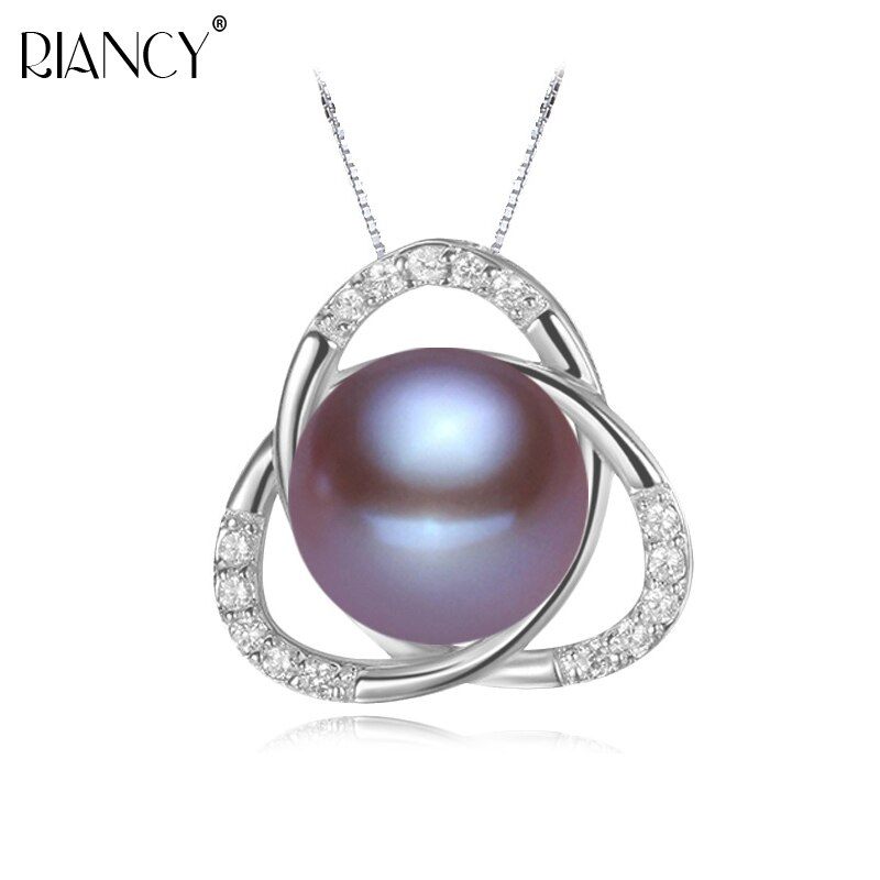 Classic 925 sterling silver real natural freshwater pearl pendant necklace for wedding fine jewelry girlfriend