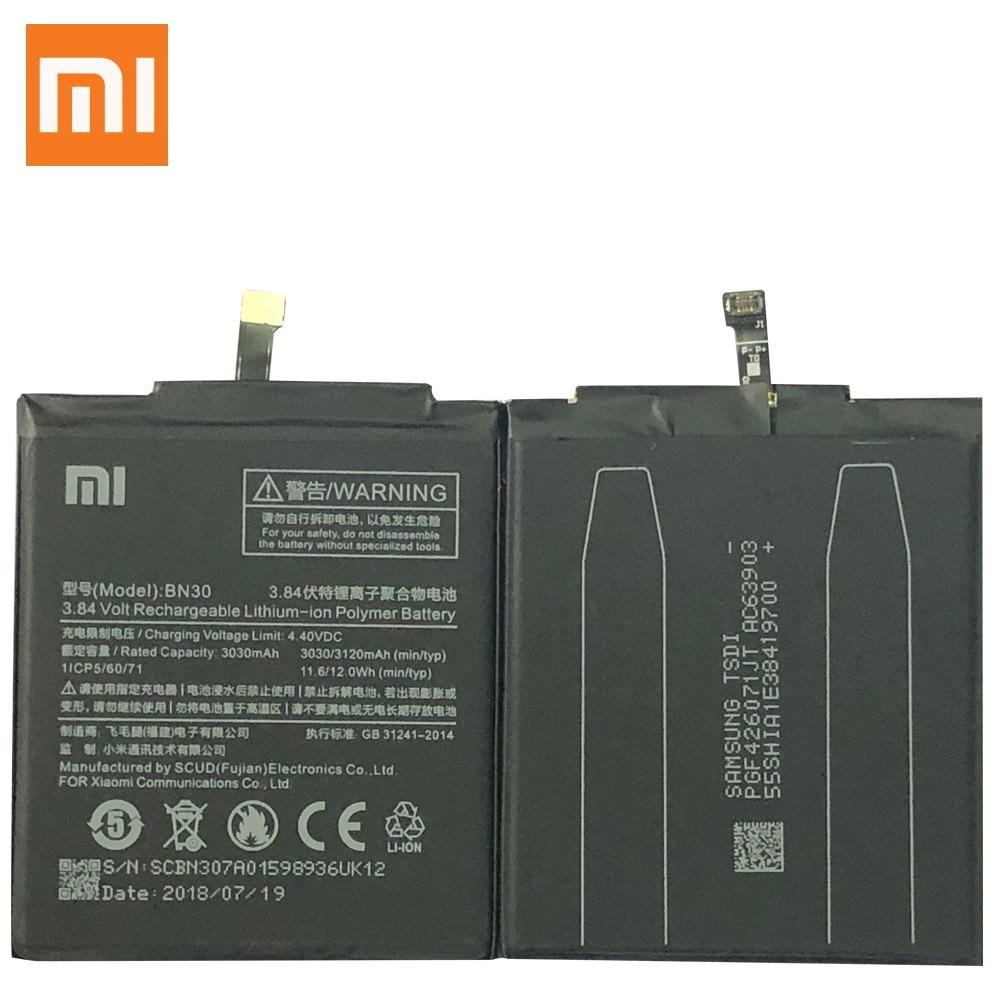 XiaoMi Original Replacement Battery BN30 For Xiaomi Mi Redrice Hongmi Redmi 4A 100% New Authentic Phone Battery 3120mAh