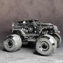 WARNGLER voiture NANYUAN I32205 PUZZLE 4WD Jeep métal assemblage modèle développant la capacité pratique 3 feuilles bricolage jouets & cadeaux