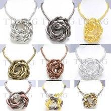 Fabrication 6mm 90cm 9 couleurs fer plaqué Flexible Flexible collier sous forme de serpent, 10 pcs/paquet
