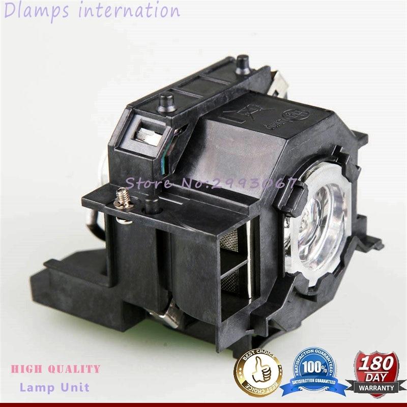 Compatible con EMP-S5 EMP-S52 EMP-T5 EMP-X5 EMP-X52 EMP-S6 EMP-X6 EMP-260 EB-S6 EB-S6 + lámpara de proyector para ELPLP41 para Epson
