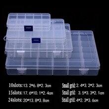 Plástico ofertas destacadas 10/15/24 compartimento para ranuras ranura organizador almacenamiento cuentas ajustar joyería caja de almacenamiento