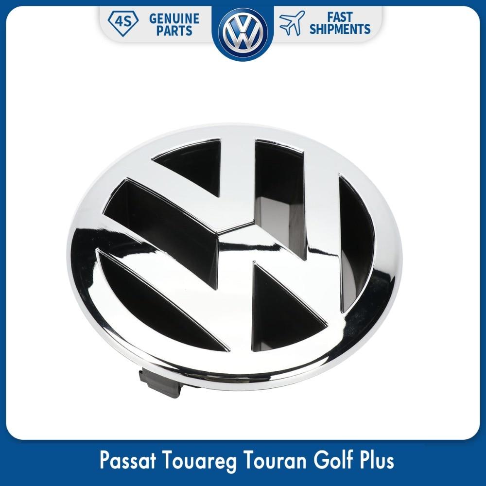 130mm Front Radiator Grille Emblem Logo for VW Volkswagen Passat 06-11 Touareg 07-10 Touran Golf Plus 2005-2009 5M0 853 601 FDY