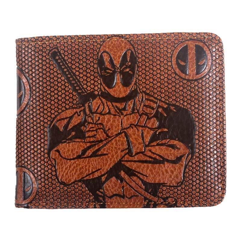 Мужской кошелек marvel Joker/black panther/Star Wars/Batman/deadpool/Винтажные бумажники с держателем для карт, кошелек на молнии