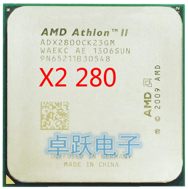 AMD Athlon II X2 280 procesador Dual-Core 3,6 GHz 2MB L2 caché hembra AM3 cpu piezas dispersas cpu envío gratis