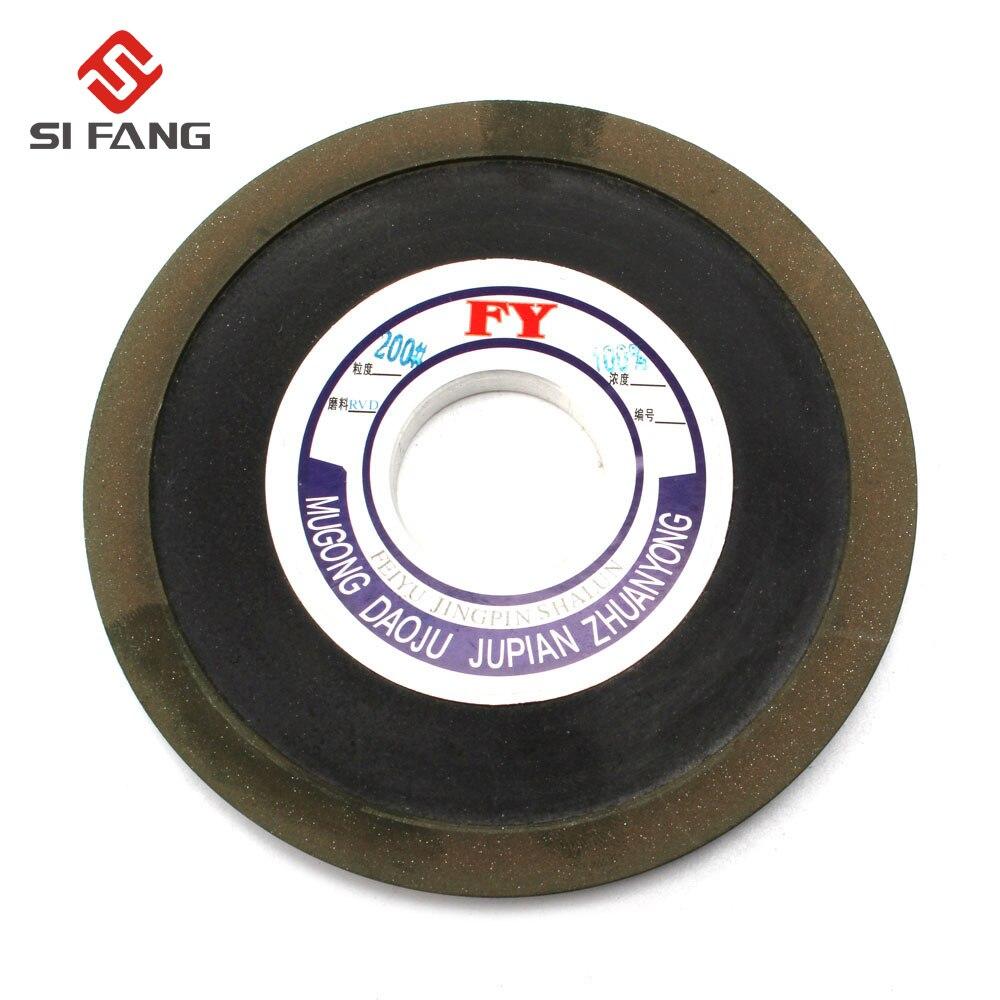 125 MM 100% Resina Baquelite Cônico de Diamante Rebolo para Moer Carboneto de Aço Rígido 32 MM Bore200 Grit 100%