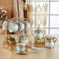 6piece set hand painted high grade coffee cup saucer set european style ceramic afternoon tea cup coffee mug gift home drinkware