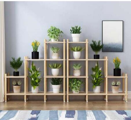 Florero de interior ou shiji de madera real, balcón, sala de estar de múltiples capas, uso familiar, originalidad especial, maceta lleva alto-gr