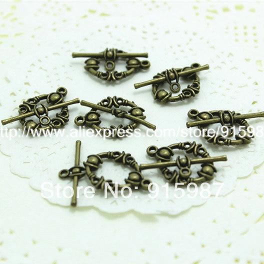 Sweet Bell (5109) Fashion Jewelry Findings,Accessories,charm,pendant,Alloy Antique Bronze  22*17MM,25MM  OT Bracelet clasp 30pcs