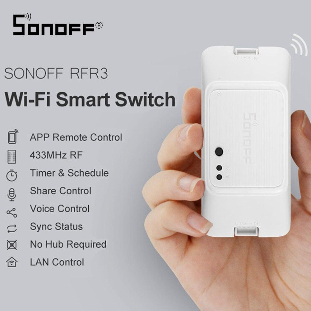 SONOFF RF R3 Smart RF Control RM 433Mhz Switch WIFI 100-240V DIY Ewelink APP Automation works with Alexa Google Home