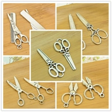 Schaar/scharen/forfex/tool vorm antiek zilver DIY lichtmetalen charm hanger vintage sieraden maken accessoires bevindingen armband