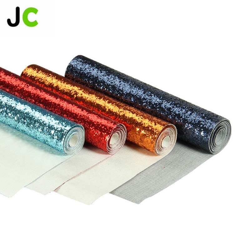 Cardstock rollo de papel artesanal con purpurina gruesa para fiesta, embalaje de regalo de decoración, tela para cortar papel para álbum de recortes DIY roll JC 25x138cm