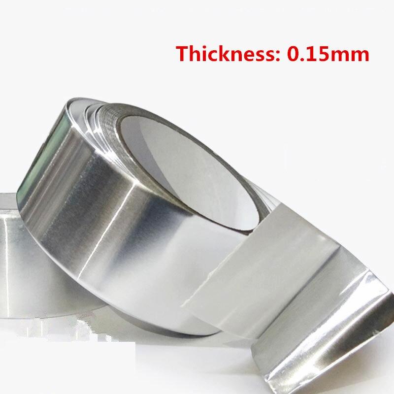 Алюминиевая фольга лента 20 м * 0,15 мм алюминиевая клейкая лента высокотемпературная лента герметичный водонепроницаемый экран сигнала
