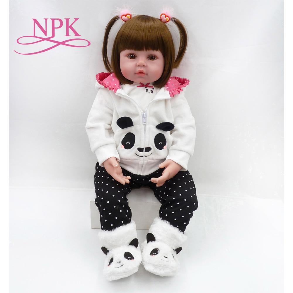 NPK Última Noticia 58cm de silicona renacido boneca Realista muñeca de bebé a la moda para la princesa de los niños Regalo de Cumpleaños Bebes Reborn muñecas