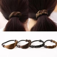 lnrrabc hemp flowers women fashion wig popular scrunchy rubber rope elastic hair bands 4colors headwear hair accessories
