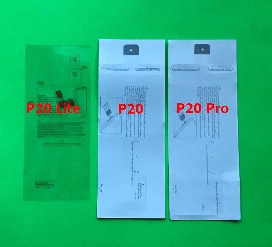 100 قطعة جديد مصنع الهاتف المحمول ختم لهواوي P40 P20 لايت P30 برو الجبهة LCD الخارجي شاشة الغطاء الخلفي الإسكان حامي