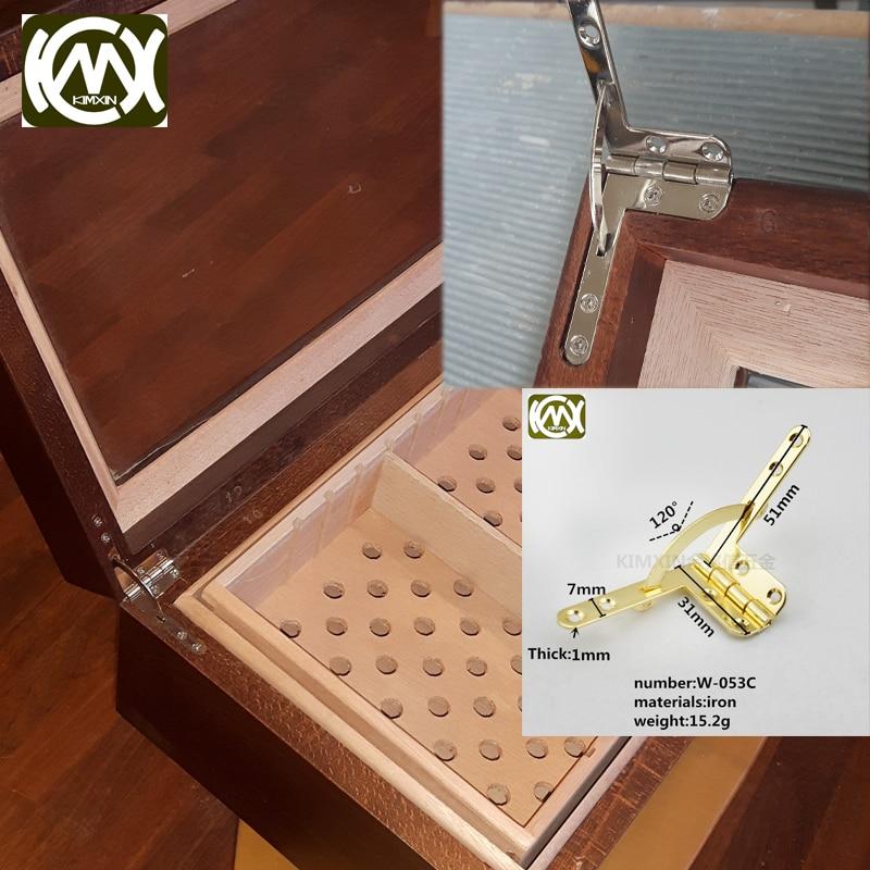 10 pc 31*51 milímetros Aberto a 120 graus de Alta-grau dobradiça caixa de madeira Nova listagem de velocidade de entrega é Equipado com parafuso rápida