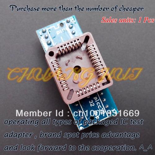 PLCC32 to DIP32 programmer adapter  IC Test Socket