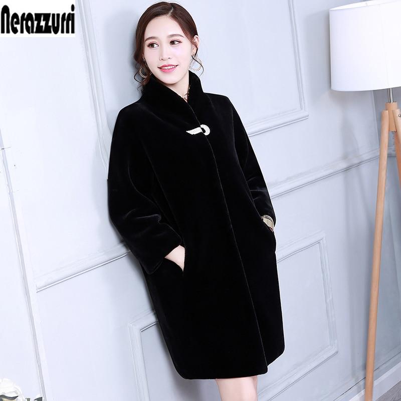 Abrigo de piel sintética de Invierno para mujer color azul negro gris peludo talla grande abrigo de felpa 5XL 6XL 7xl cálido falso rex chaqueta femenina de piel de conejo