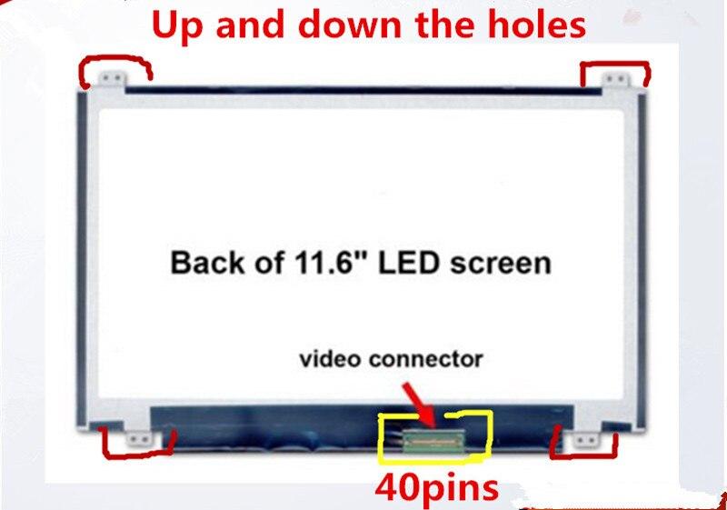 الأصلي A + 11.6 بوصة HD 1366*768 لشركة أيسر أسباير واحد 722 725 محمول led عرض LCD شاشات B116XW03 V.2 N116BGE-L41 N116BGE-L42