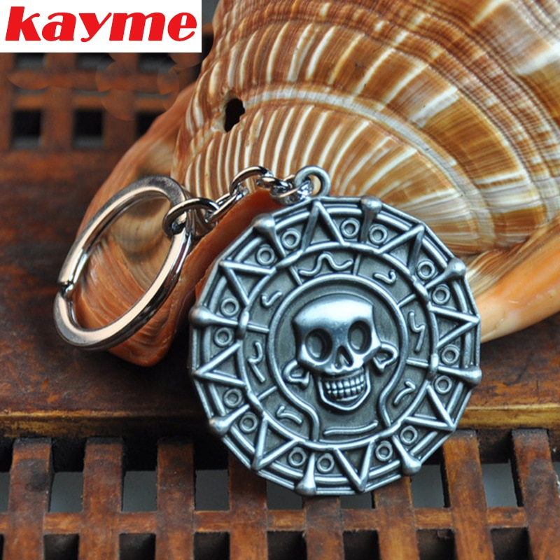Kayme car key rings keychain Pirate gold skeleton head pendant key chain for bmw honda sokda toyota volkswagen nissan ford jeep