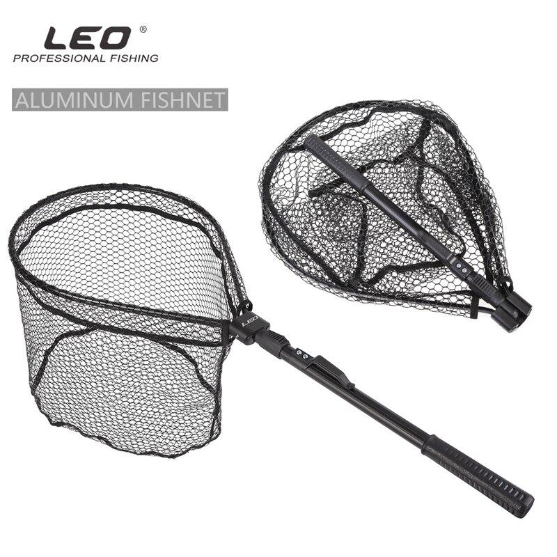 Aluminium legierung Schnelle Faltbare Fly Angeln Griff Netze Klapp Pol Verlängerung Karpfen Landung Nylon Mesh Trout Scoop Net Pesca Iscas