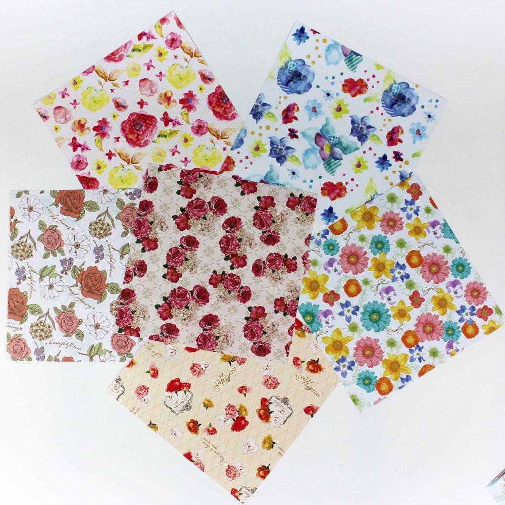 HOT! linda aquarela origami papel partido decorationl floral diy artesanato de presente de papel 15x15 cm 120 pçs/lote flor rosa