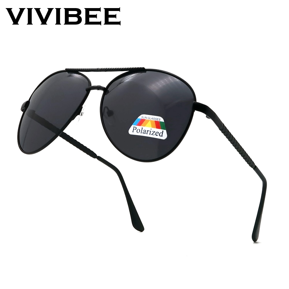 VIVIBEE Unisex Pilot Polarized Lens Driving Sunglasses Sale Mens Sun Glasses 2021 Trendy Men Metal A