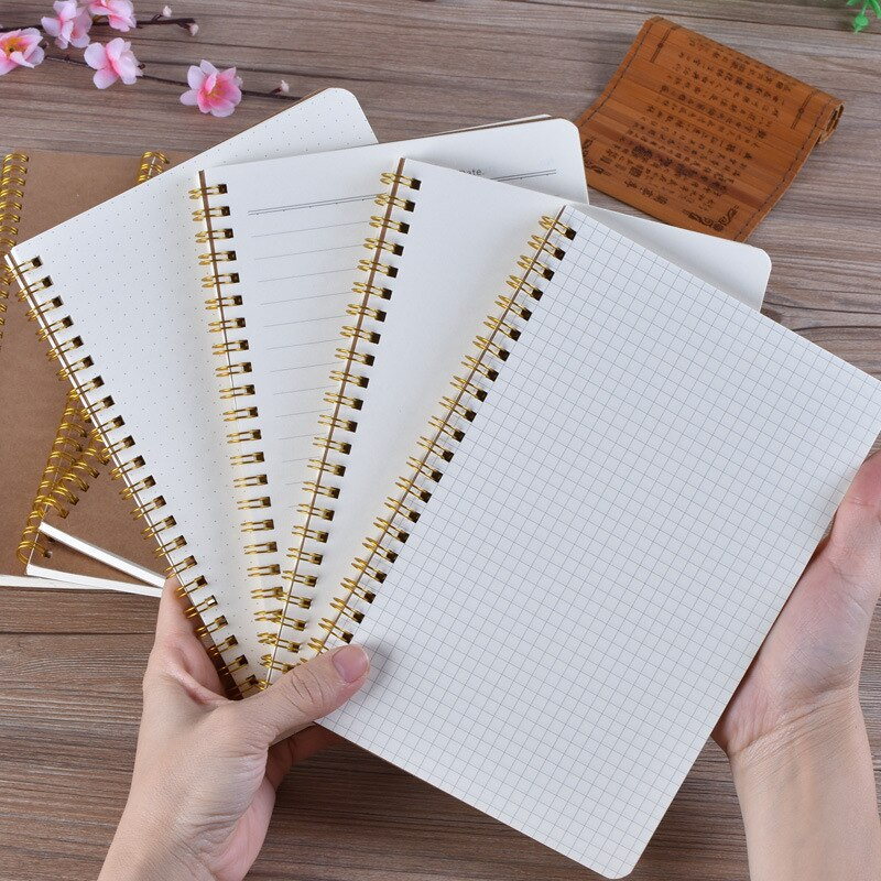 Cuaderno A5 diario medio Kraft cuadrícula Dot planeador diario semanal libro gestión del tiempo planificador Colegio suministros papelería regalo