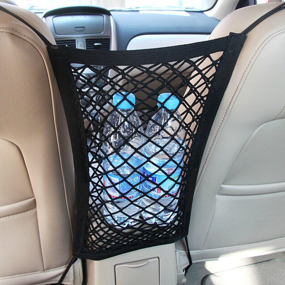 24X29cm Usefull Strong Elastic Mesh Net Car Auto Trunk Bag/Between Car Organizer Seat Back Storage Mesh Net Bag Luggage Holder