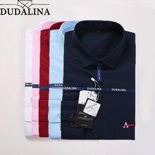 Dudalina Men Shirt Camisa Social Masculina 2020 Men Shirt Embroidery Logo Long Sleeve Business Casual Shirts Men Famous Brand