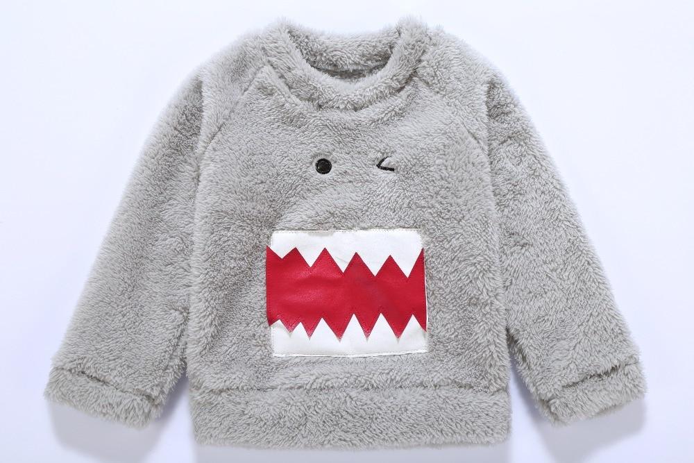 Toddler Infant Baby Boy Bear Fleece Tops Girl Clothes Animal Winter Thick Children's Sweatshirts Casual Kids Velvet Costume