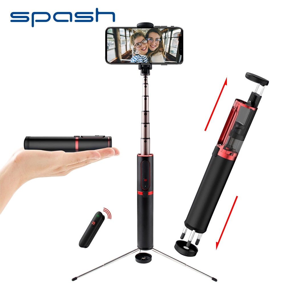 Palo de Selfie spash, Portátil con Bluetooth, Mini trípode 3 en 1, monopié, palo de Selfie para iPhone, Samsung, Huawei, Xiaomi, Android