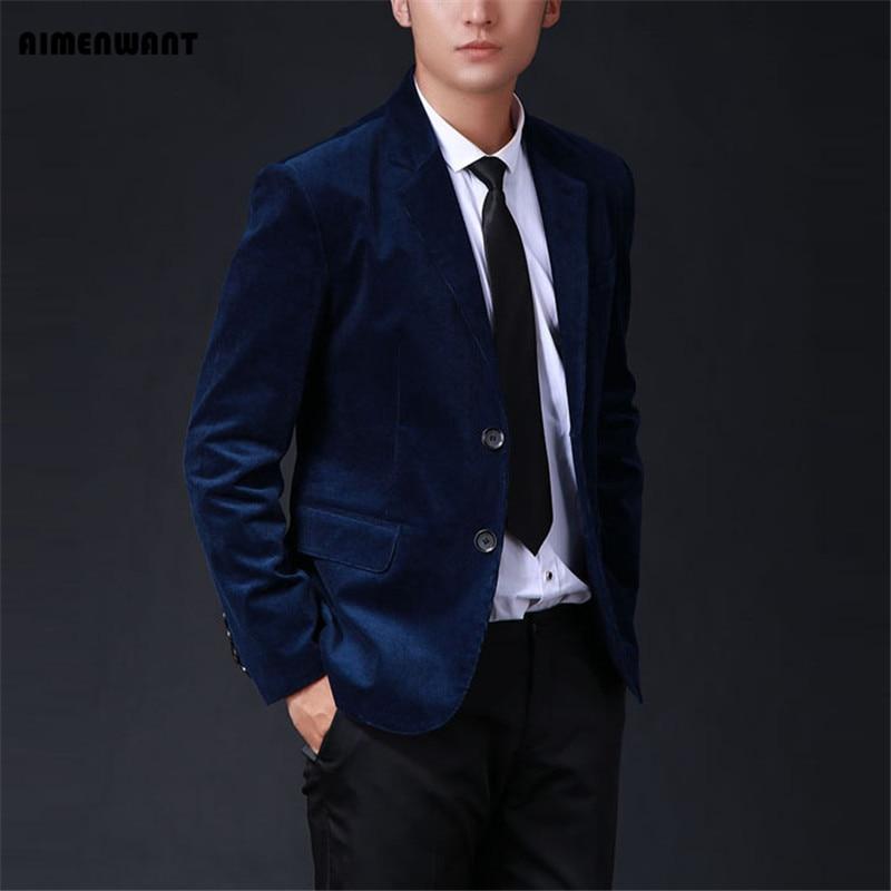 AIMENWANT دعوى 2017 المتضخم رجل تخصيص دعوى التجارية سروال قصير سترة الذكور ضئيلة تناسب قميص الصلبة 5 ألوان سترة هدايا