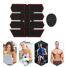 ABS muscular Abdominal equipo de fitness Delgado seis modos inteligente masaje eléctrico aparato de entrenamiento + podómetro de silicona